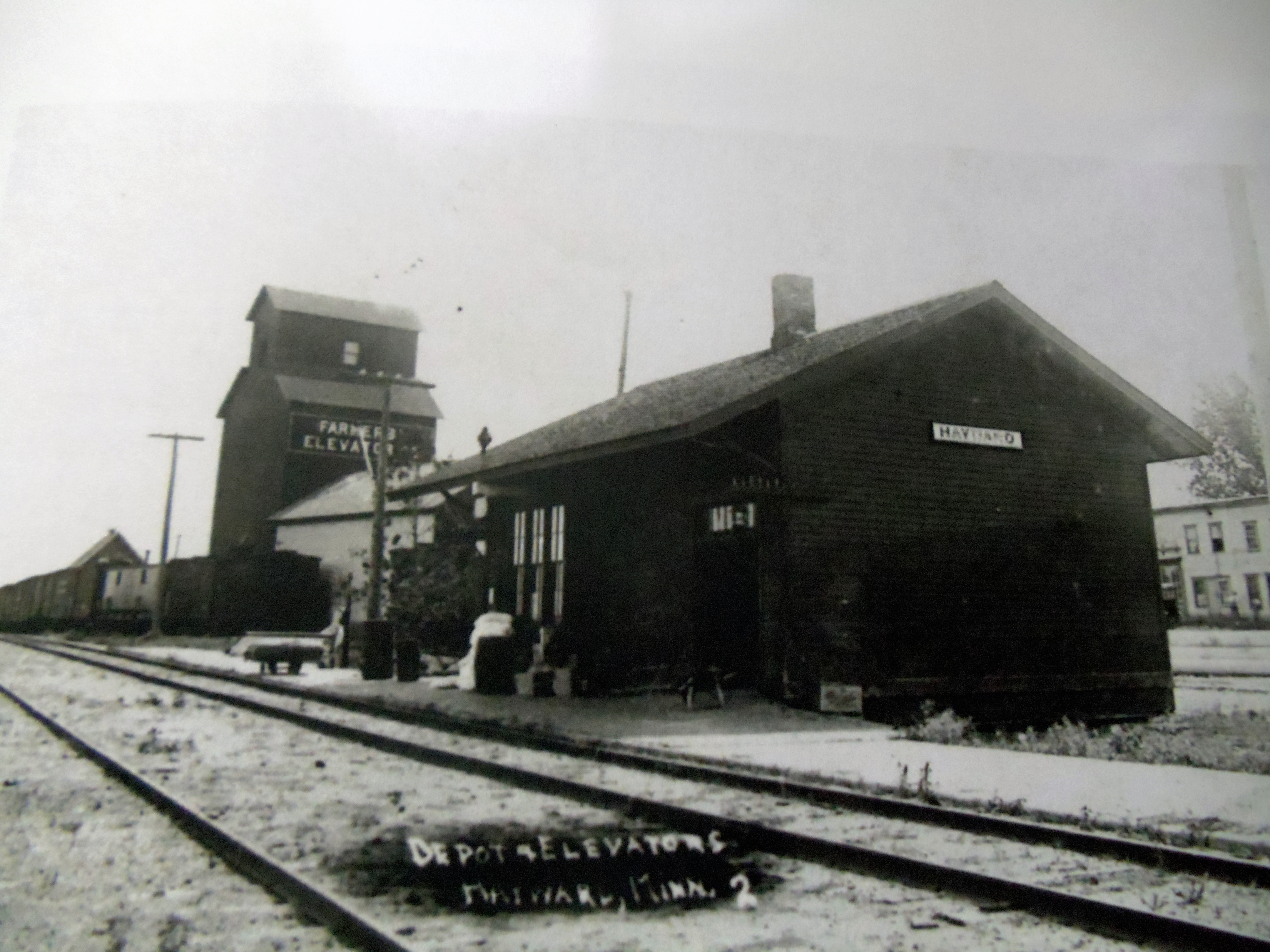 Train Depot and Elevator 1916